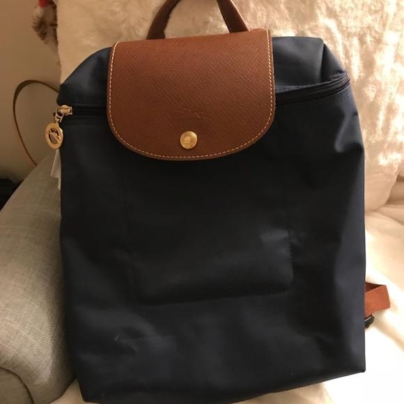 38ff99e6f79 Longchamp Handbags - Longchamp Le Pliage Backpack (Navy Blue)
